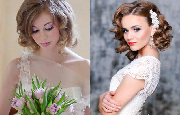 Фото свадебные прически с челкой на короткий волос