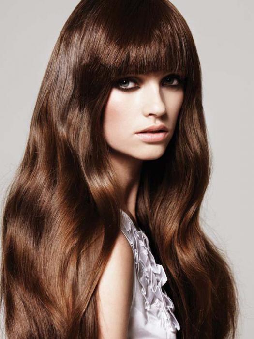 цвет волос каштановый темный фото