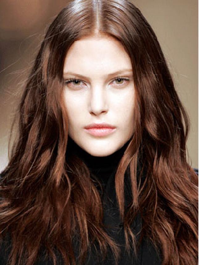 Цвет волос темный каштан фото