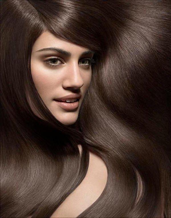 Цвет волос тёмный каштан фото