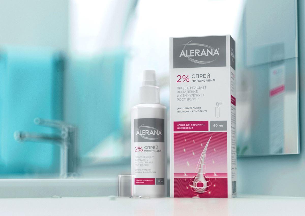 Спрей против выпадения волос Алерана: правила использования