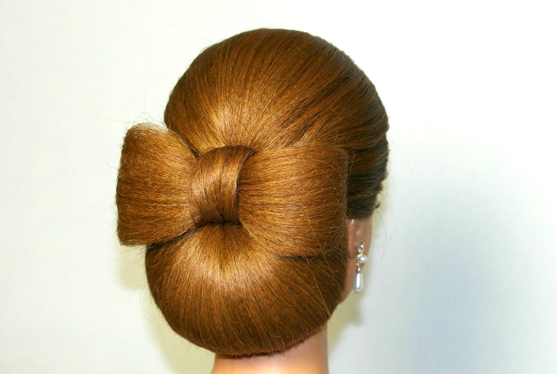 Прическа с валиком на средние волосы пошагово фото