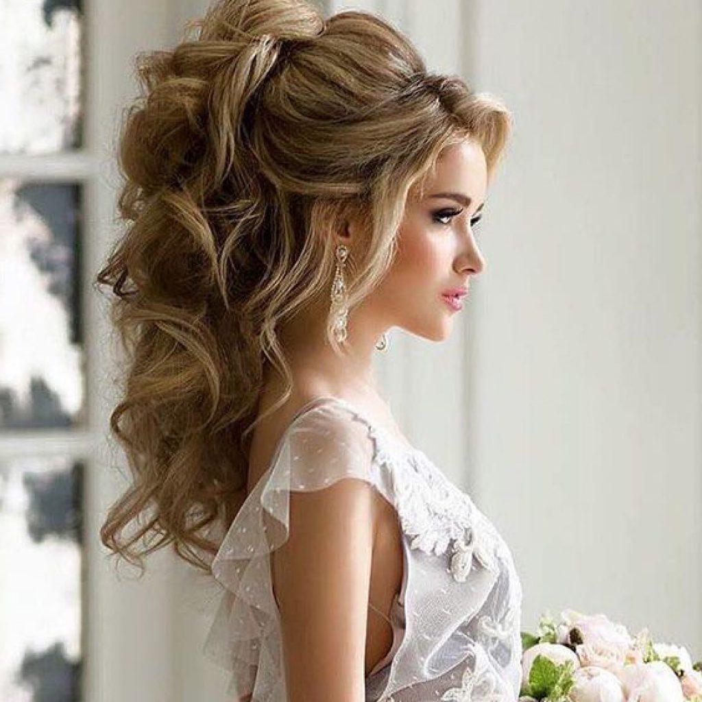 Прически челки для длинных волос 20