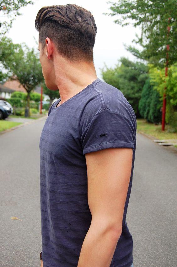 Мужские стрижки вид сбоку