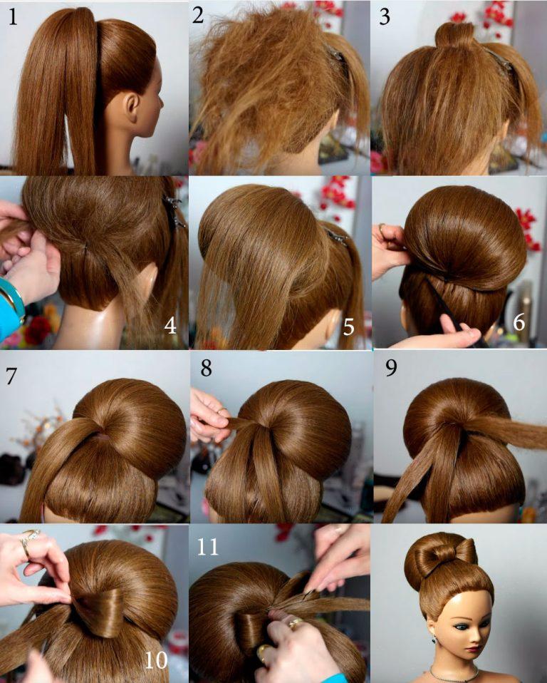 Валик для волос пошагово