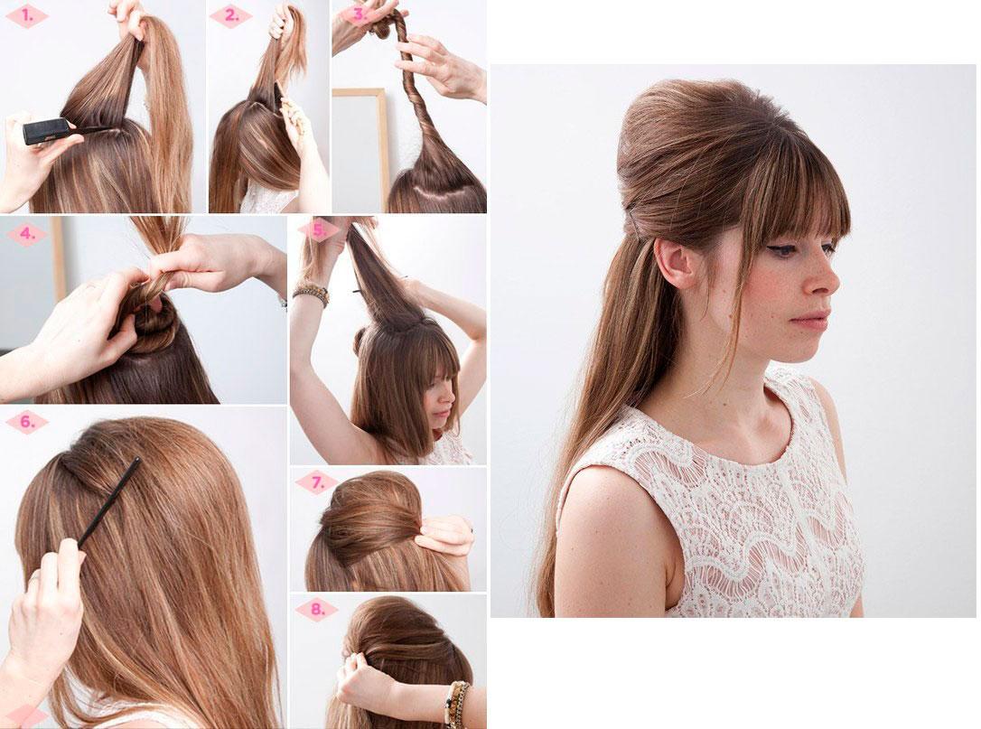 Как сделать начес на длинные волосы самой себе пошаговая инструкция фото