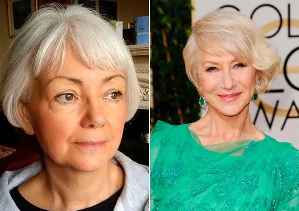 Причёски для женщин после 60 лет фото на средние волосы