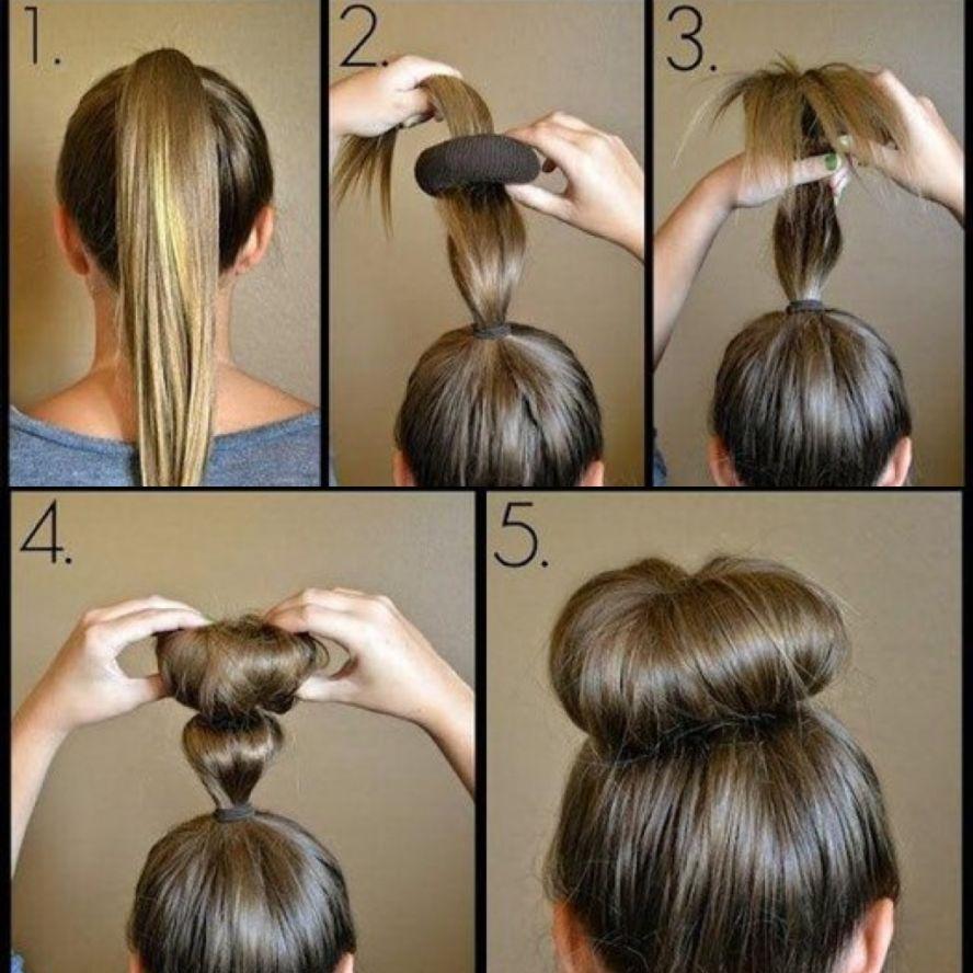 Как своими руками сделать бублик для волос своими руками