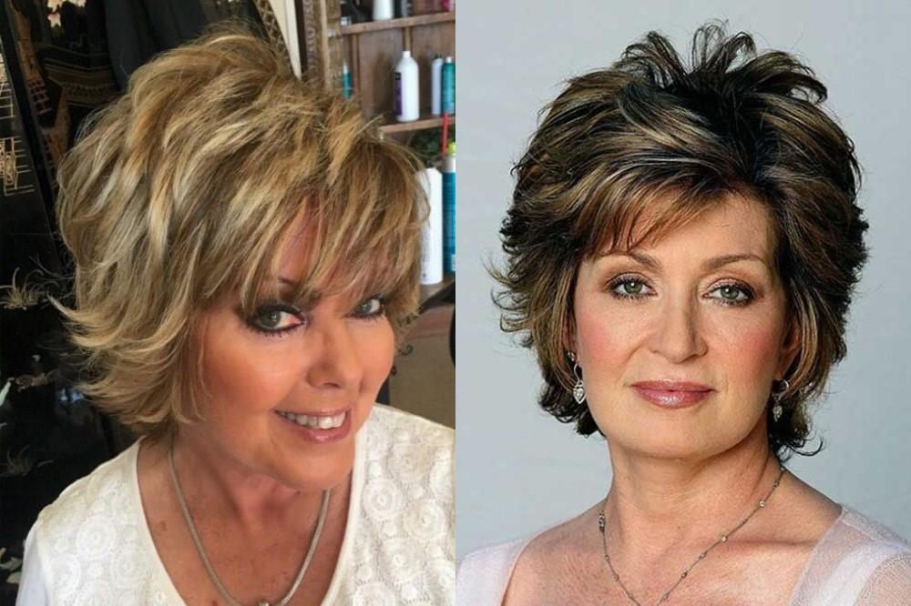 Прически на средние волосы для старше 50 лет