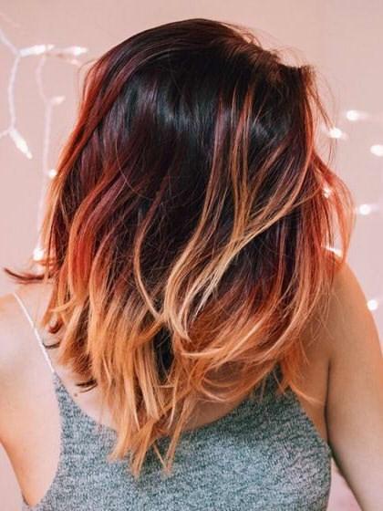 Модное окрашивание на средние волосы рекомендации