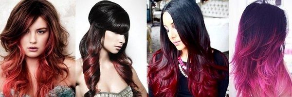 Окрашивание омбре на темные волосы (35 фото)