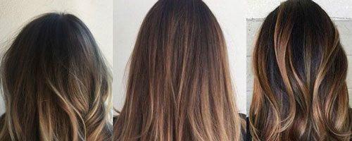 Балаяж на шоколадные волосы (30 фото)