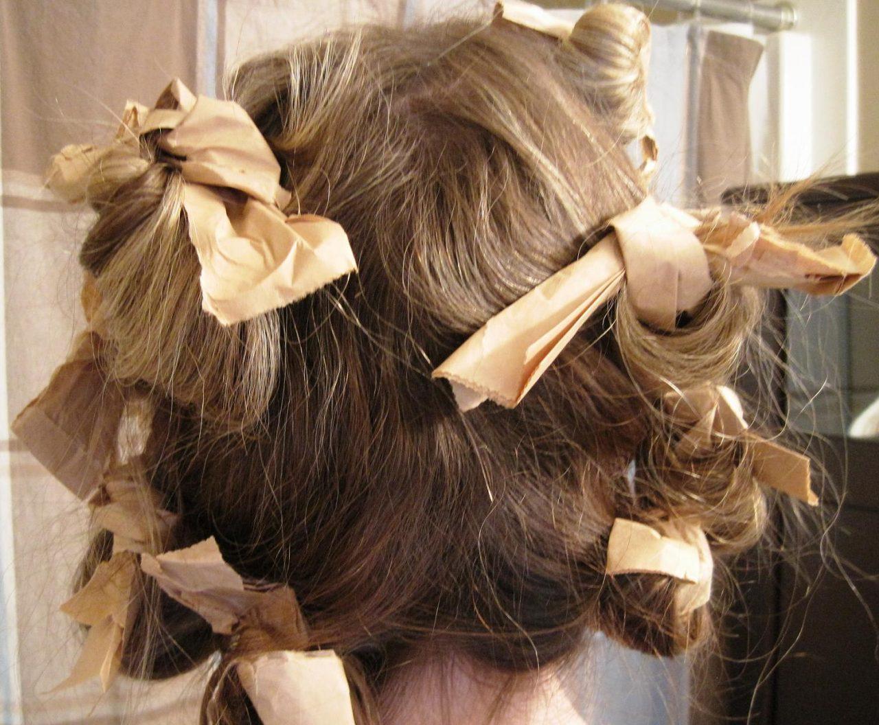 Волосы накрученные на тряпочки фото пошагово