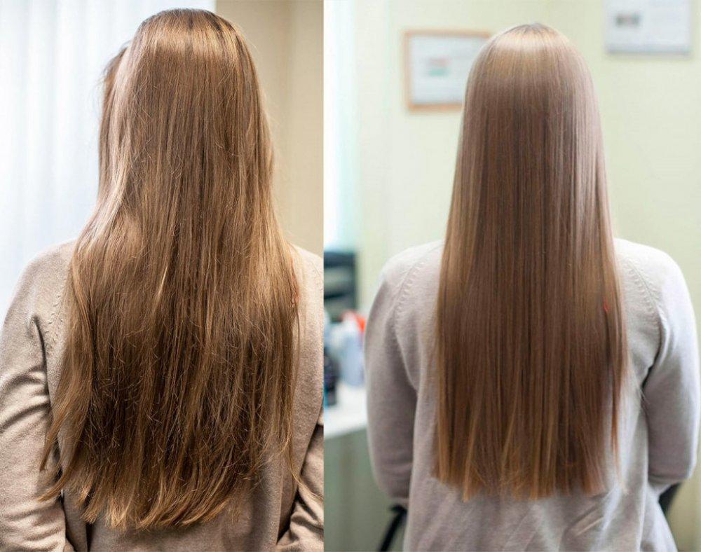 Биоламинирование волос «до» и «после» (30 фото)