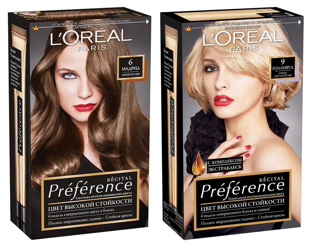Краска для волос Лореаль Преферанс: специфика использования и эффект от окрашивания