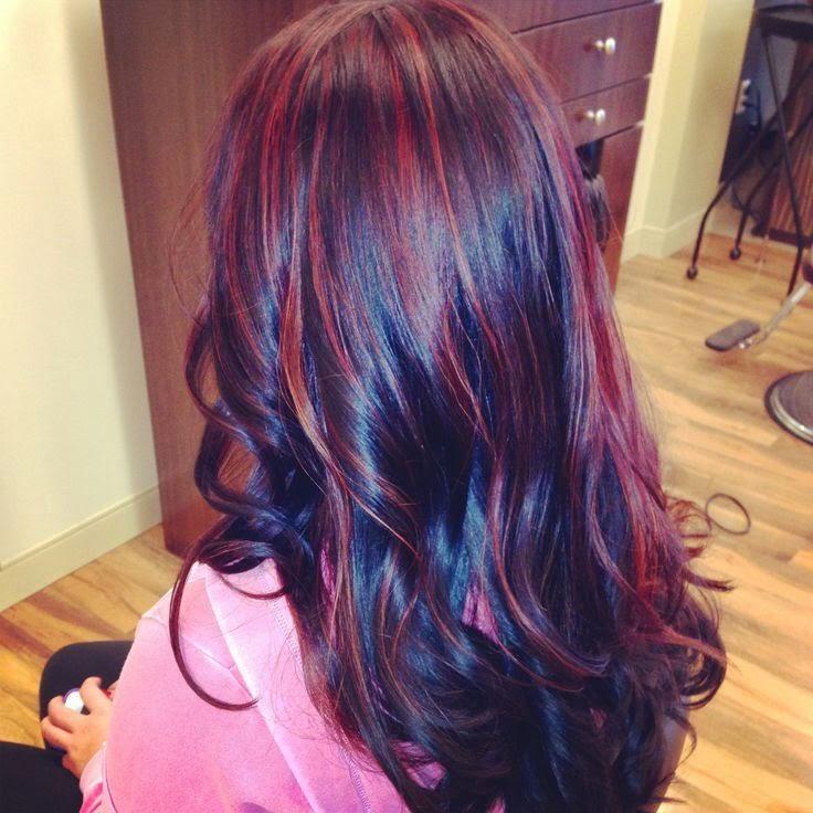 Разноцветные волосы у девушек