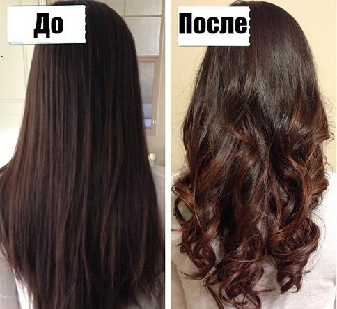 Химическая завивка волос на крупные локоны ( фото )