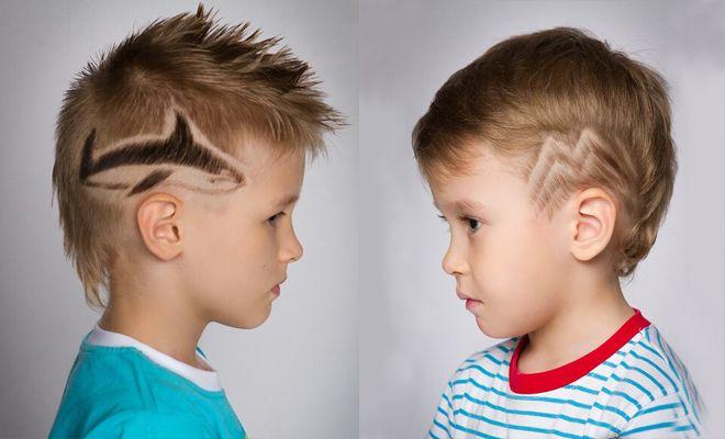 Детские стрижки для мальчиков -барбершоп haft