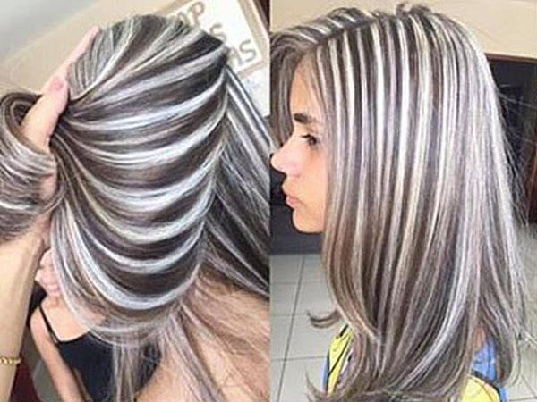 мелирование волос каскад фото
