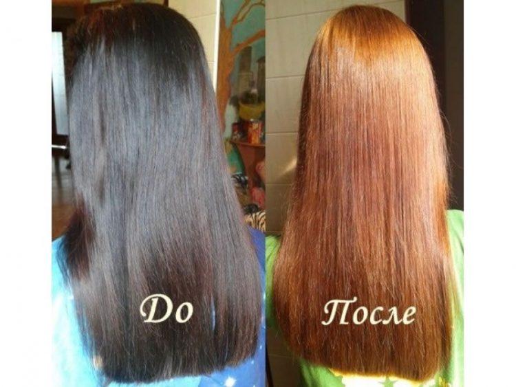 Как осветлить темные волосы