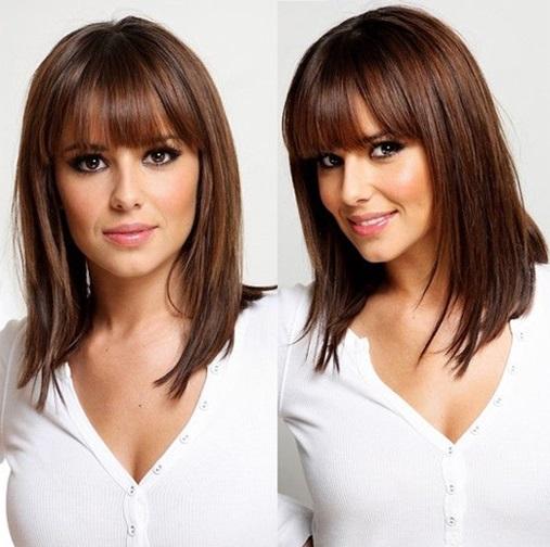 Стрижки на средние волосы (29 фото)