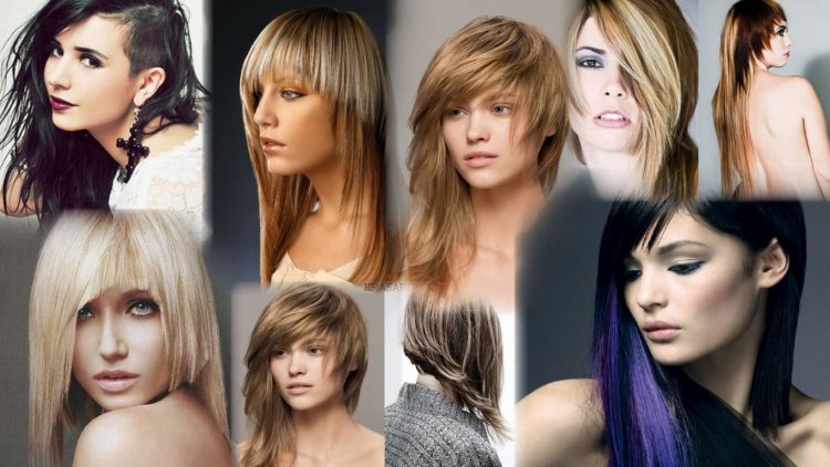 Стрижку на длинных волосах начинают с формирования челки, если она имеется, коротенькие пряди должны отвечать длине челочки.