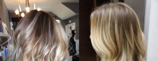 Балаяж на мелированные волосы (20 фото)
