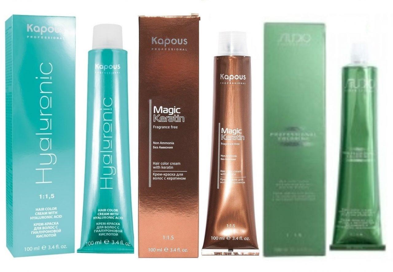 Профессиональная краска для волос «Kapous»: цвета для стильного решения