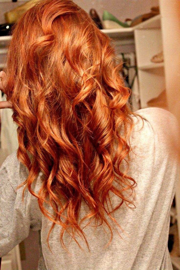 Фото рыжей и черных волос сзади без лица — pic 5