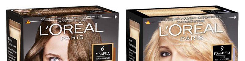 Обзор красок для волос марки Лореаль