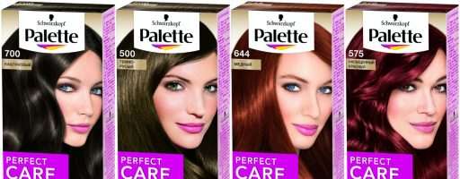 Палитра цветов краски для волос «Палет»