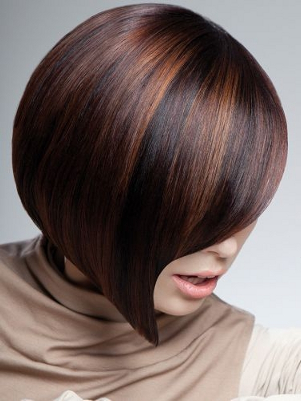 Асимметричный боб стрижка на средние волосы (30 фото)