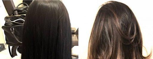 Брондирование на темных волосах: фото «до» и «после» (20 фото)