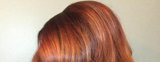 Брондирование на рыжих волосах (30 фото)