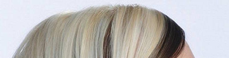 Окрашивание волос «верх светлый — низ темный» (20 фото)