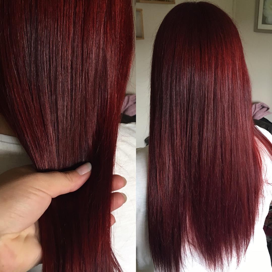 цвет волос дикая вишня фото легко