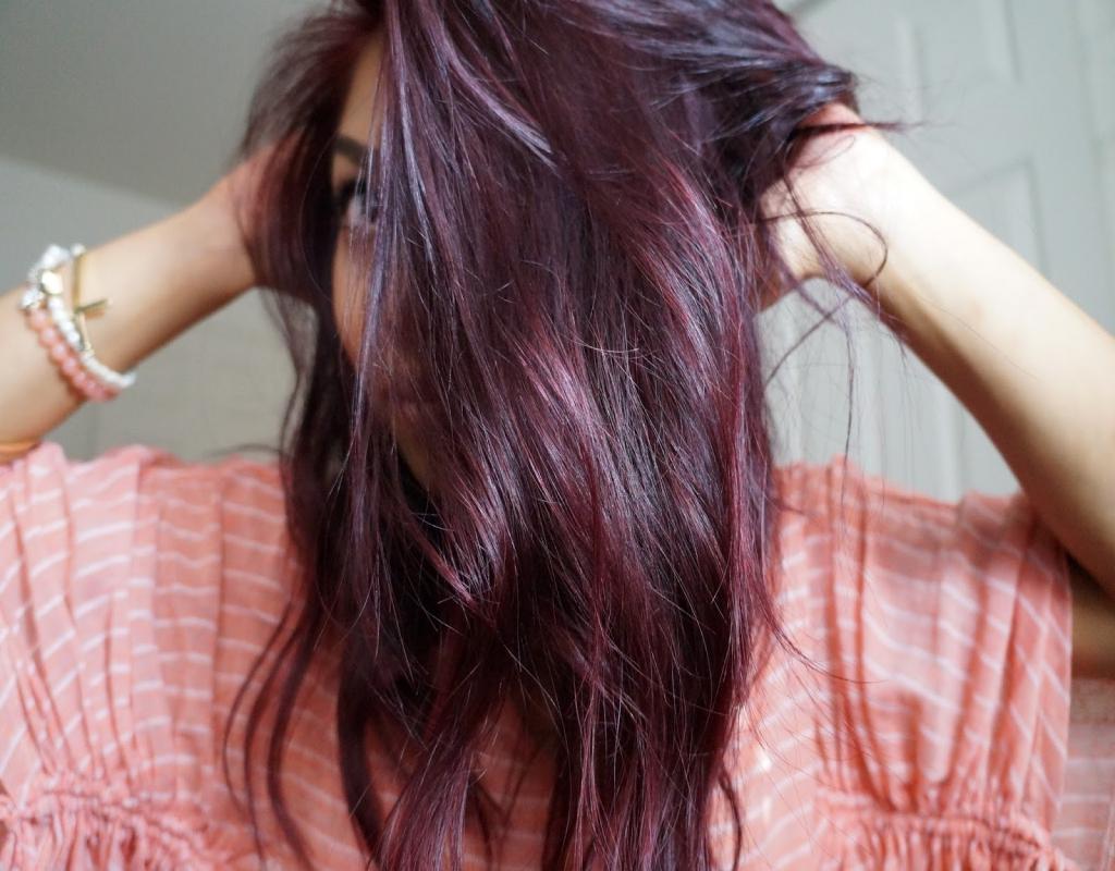цвет волос бургунд фото часто