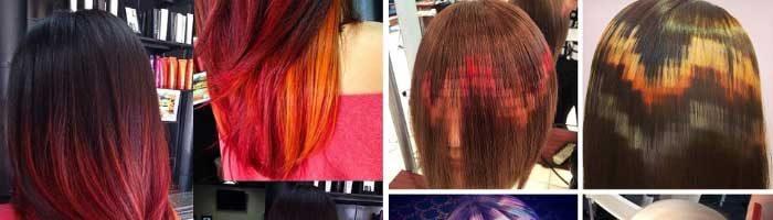 Блочное окрашивание волос (28 фото)