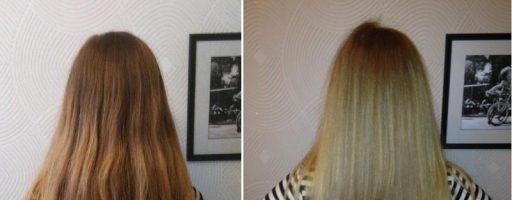 Ламинирование волос желатином: фото до и после (35 фото)