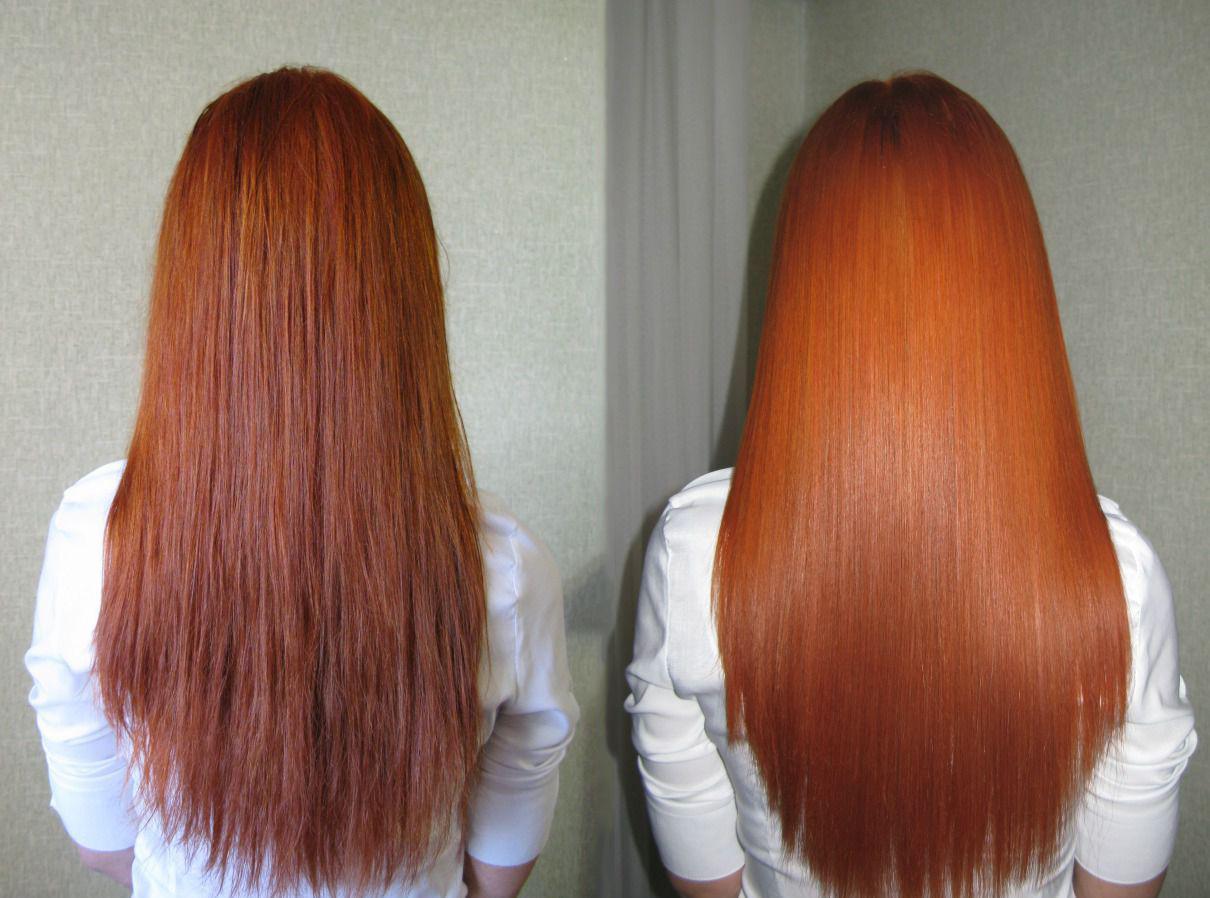 Биоламинирование волос до и после фото