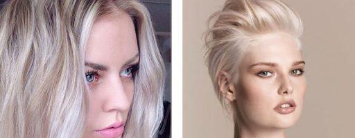 Красивые белые оттенки волос (37 фото)