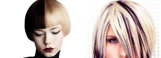 Двойное окрашивание волос (36 фото)