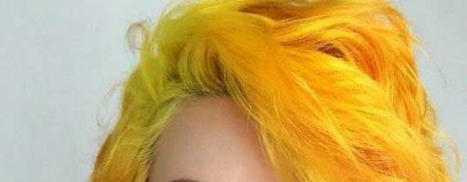 Желтый цвет волос (35 фото)