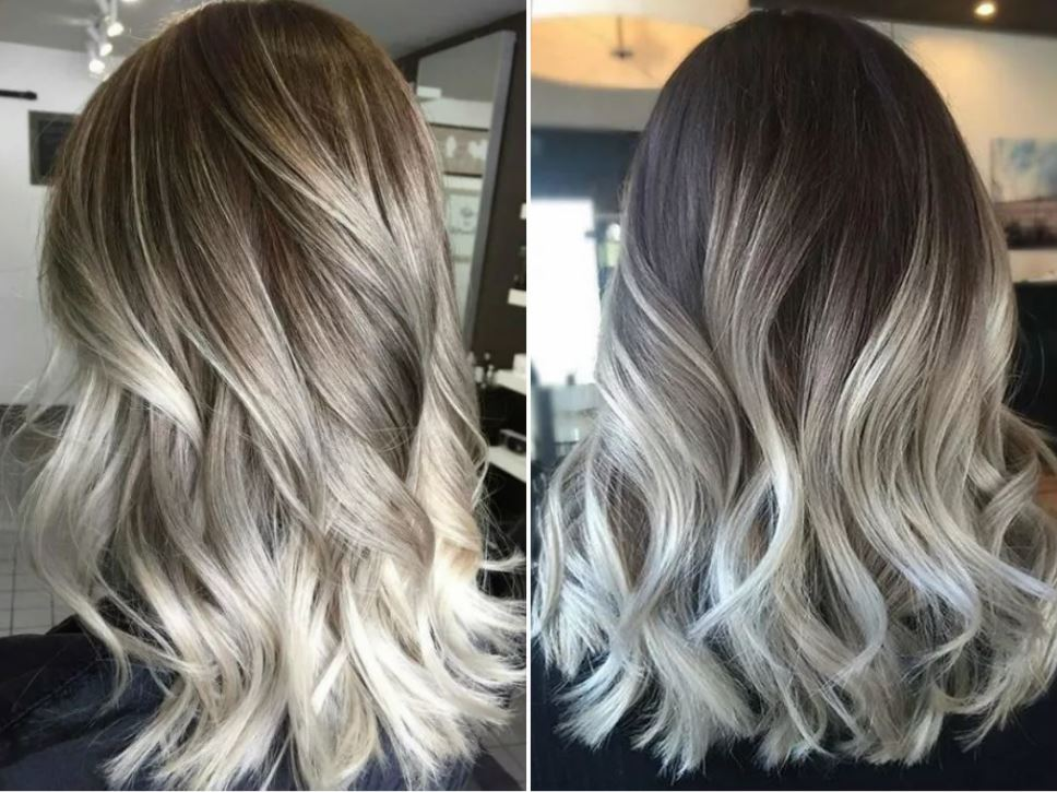 Платиновый цвет волос: фото до и после (36 фото)