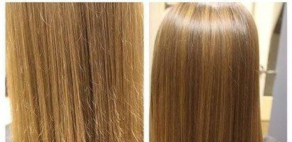Шлифовка волос: фото до и после (32 фото)