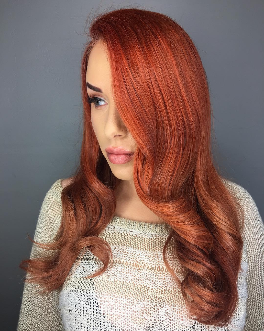 Оттенки рыжего цвета волос: палитра (30 фото)