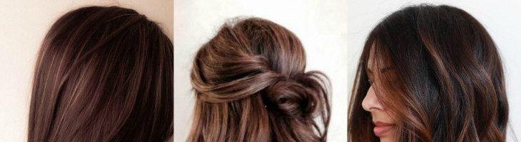 Красивые шоколадные оттенки волос (33 фото)