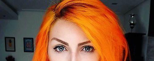 Оранжевый цвет волос (31 фото)