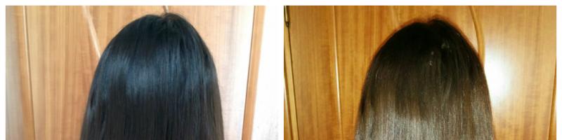 Смывка темного цвета волос: фото до и после (28 фото)