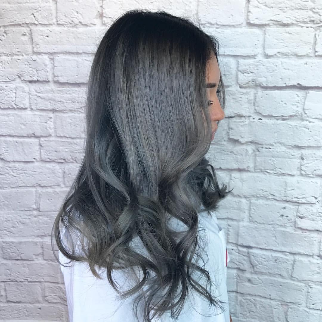 Цвет волос «графит» (30 фото)